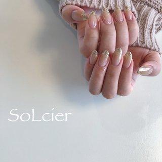 #ハンド #フレンチ #グラデーション #【SoLcier】ソルシエ #ネイルブック