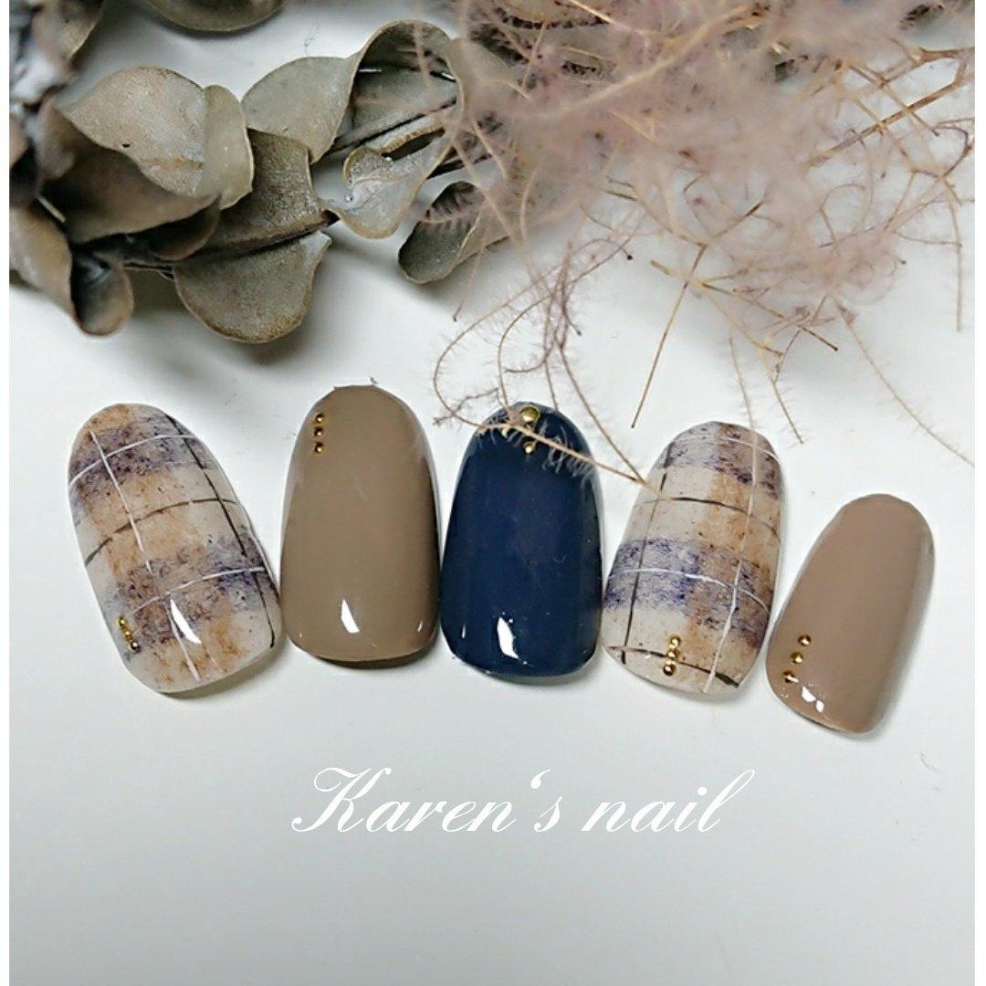 1月グランコースデザイン #karen's nail rierin #ネイルブック