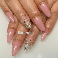 #ハンド #ベージュ #ピンク #シルバー #お客様 #lian.nail〜リアンネイル〜 #ネイルブック