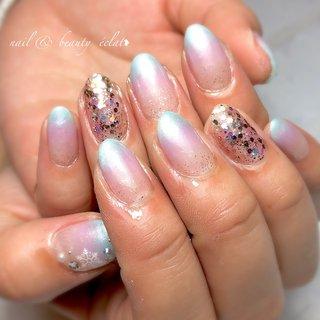 #グラデーションネイル#パステルネイル#雪ネイル#冬ネイル #nail & beauty éclat❥ #ネイルブック