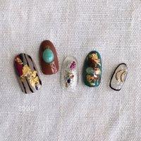 個性的なアート。古着などにもよく合います♡ #soeur_武蔵浦和 #ネイルブック