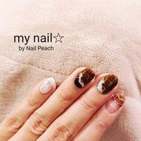 #チョコネイル #バレンタインネイル  #くまさんネイル #Nail Peach #ネイルブック