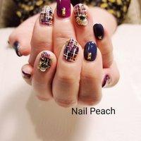 #ツイードネイル #冬ネイル #Nail Peach #ネイルブック