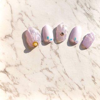 #人魚の鱗ネイル #ピンク #パープル #パステル #キラキラ #ハンド #ジェル #ストーン #シンプル #かわいい #夏 #オールシーズン #ハンド #シンプル #人魚の鱗 #ミディアム #パステル #ジェル #ネイルチップ #JerryFish #ネイルブック