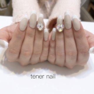 フレンチにビジューネイル💅  #tenernail #テネルネイル#tener_nail #nail#nails #gelnail #ネイル #ブライダルネイル #シンプルネイル #nailstagram #オフィスネイル #ネイルブック#美甲 #nailbook #japan#東京#TOKYO#新宿ネイルサロン#新宿#ジェルネイル#네일#신주쿠#ネイルデザイン#冬ネイル#お子様連れok #フレンチネイル ビジューネイル #オールシーズン #成人式 #バレンタイン #ブライダル #ハンド #シンプル #フレンチ #ビジュー #スーパーロング #ホワイト #ベージュ #ジェル #お客様 #テネルネイル tener nail #ネイルブック