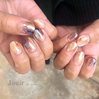 #ハンド #ニュアンス #スモーキー #カラフル #Jouir for beauty - hair nail eyelash- #ネイルブック