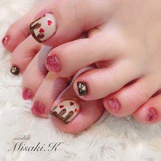 . *・。.°*・.°・。*.・。・.*・。* . ❧Nailist❧ 柏木美咲 . *・。.°*・.°・。*.・。・.*・。* . #ネイル #大阪ネイルサロン #トレンドネイル #冬ネイル #ネイルデザイン #ネイルスタグラム #ネイルアート #ジェルアート #美容 #ファッション #ネイル2019 #followme #nails #beauty #jelnails #winternails #naildesign #nailart #newnail . *・。.°*・.°・。*.・。・.*・。* #冬 #バレンタイン #パーティー #デート #フット #ラメ #水滴 #スイーツ #ミディアム #ベージュ #ピンク #ブラウン #ジェル #お客様 #柏木 美咲 #ネイルブック