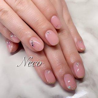 #ハンド #ハート #ピンク #ジェル #お客様 #nail salon Neco #ネイルブック
