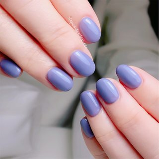 ブルーパープルカラー✨ 肌をもよりキレイに魅せてくれる色味✨  いつもありがとうございます♡    #上品ネイル #ワンカラー #オフィス #大人ネイル #パープル #ブルー#女子会 #大人可愛い #大人女子ネイル #大人カラー #大人上品ネイル #オフィス #パーティー #デート #女子会 #ワンカラー #ブルー #パープル #ジェル #Repos de Clématite ~ルポ•デ•クレマティット ~ #ネイルブック