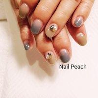 #大人ネイル #Nail Peach #ネイルブック