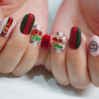 #グッチネイル#ロゴネイル#派手カワネイル #キラキラ #ange nail salon #ネイルブック