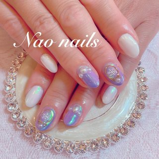 #nail #gelnail #nailart #naonails #一之江naonails #一之江ネイル #自宅ネイルサロン #シンプルネイル #大人可愛いネイル #冬ネイル #Winter #オフィスネイル #アナ雪ネイル #結晶ネイル * アナ雪みたいで可愛い☃️❄️💙 #Nao #ネイルブック