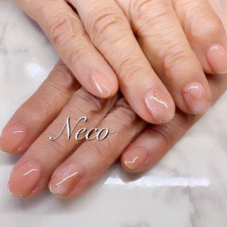 #ハンド #ピーコック #大理石 #クリア #オレンジ #ジェル #お客様 #nail salon Neco #ネイルブック