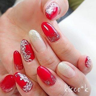 赤に繊細なレース💓 エレガントな仕上がりに😌✨✨  #レース柄  #レース風フラワー  #手書きネイル #赤ネイル  #rednail #nail #nails #nailsalon #instanails #nailswag #nailstagram #nailart #naildesign #gelnails #manicurist #ネイル #ネイルデザイン #大人ネイル #ジェルネイル #ネイルサロン #八潮市 #八潮ネイル #八潮ネイルサロン #足立区ネイルサロン #北千住ネイルサロン #草加ネイル #三郷ネイル #自宅サロン #kicco_k #オールシーズン #パーティー #デート #女子会 #ハンド #ワンカラー #フラワー #レース #ミディアム #ホワイト #レッド #ジェル #お客様 #kicco_k.nail #ネイルブック