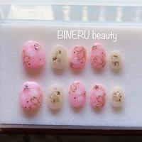 さくらネイルチップ🌸フルオーダー🌸ありがとうございました😊 #ネイルチップ #ネイルチップオーダー #春ネイル #さくらネイル #BINERU beauty #BINERU beauty #ネイルブック