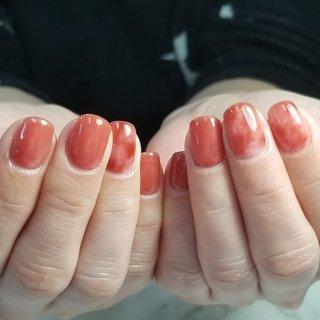 #ハンド #ピンク #レッド #オレンジ #kittystyle #ネイルブック