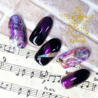Happy Birthday 志季!  志季にとって素敵な誕生日、実りある一年になりますように✨  モチーフネイル  篁志季  『クロスノーツ』イメージネイル。 志季が大好きなSolidSのメンバーカラーと曲の疾走感とカッコよさを紫のミラーとユニコーンでクールネイルに  #篁志季生誕祭2020  #篁志季誕生祭2020   #yhnailart #モチーフネイル #ネイル #ネイルアート #ネイルデザイン #nail #naildesign #nailart #motifnail #ステラレコード #stellarecord #ヲタクに見えないネイル #ツキプロ #ツキプロネイル #篁志季 #SolidS #ミラーネイル #ユニコーンネイル #楽曲イメージネイル #オールシーズン #ライブ #スポーツ #女子会 #ハンド #ワンカラー #キャラクター #ニュアンス #ユニコーン #ミラー #ミディアム #パープル #ブラック #ビビッド #ジェル #ネイルチップ #YUKIE #ネイルブック