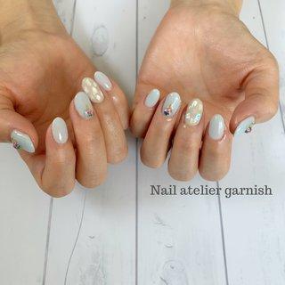 ️ 1月のデザインです🙋♀️  #ネイルデザイン #ネイルチェンジ #nail #nails #jelnail #nailart #fashion #ネイル #ジェルネイル #ネイルアート #大人ネイル #ネイルサンプル #冬ネイル #ワンカラー #オフィスネイル #atelier_garnish #ネイルブック