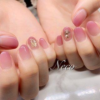 #ハンド #グラデーション #ワイヤー #ピンク #ジェル #お客様 #nail salon Neco #ネイルブック