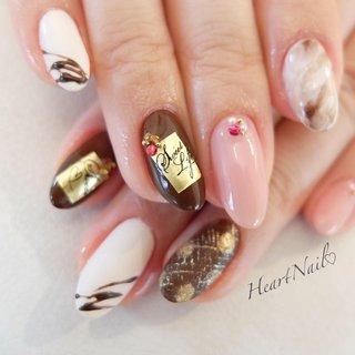 バレンタインネイル! 美味しそうですね  #nails#nail#nailart#nailstagram#gelnails#nailart#ネイル#nailsalon#love#cutenails#cute#pedicure#ネイルアート#ネイルデザイン#ネイリスト#ネイルサロン#大人可愛い#大人ネイル#上品ネイル#オフィスネイル#ジェルネイル#シンプルネイル#野田市#バレンタインネイル#チョコネイル#チョコレートネイル #冬 #バレンタイン #デート #女子会 #ハンド #ワンカラー #ハート #スイーツ #ロング #ホワイト #ベージュ #ブラウン #ジェル #heartnail #ネイルブック