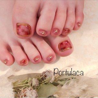 ピンクべっ甲 ♡  #ピンク #べっ甲    大人可愛くなりました〜♪  いつもありがとうございます ♡ #べっ甲 #クリア #ピンク #ボルドー #Portulaca #ネイルブック