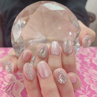 #ミラーネイル 韓国ネイル #ピンク #うめつくしネイル #うめつくし #オールシーズン #ハンド #パステル #pink_pink_love #ネイルブック