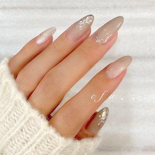 #シンプルネイル #ネイルサロン #冬ネイル #nail #オールシーズン #ホワイト #グレー #ハンド #naildesign #nails #秋 #オールシーズン #ハンド #シンプル #シェル #ミディアム #ホワイト #グレージュ #グレー #ジェル #お客様 #efu.nail #ネイルブック