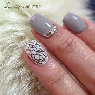 """. . """"Black lace material..."""" . . 素材を埋め込んでrealな質感ネイル✨ . . #makihorita  #luxurynailvoila  #japannail  #tokyonails  #glaynail  #materialnails  #swarovski  #jelnail  #squarenails  #shortnail  #nail  #nails  #naildesign  #nailart  #nailstagram  #nailporn  #koiwa  #nailsalon  #ラグジュアリーネイルヴォアラ #小岩ネイル #小岩ネイルサロン #ファッションネイル  #オシャレネイル  #バレンタインネイル #冬ネイル  #ショートネイル  #グレーネイル  #素材ネイル  #大人ネイル  #上品ネイル #Nailist maki #ネイルブック"""