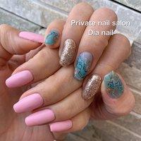 #夏 #旅行 #海 #リゾート #ハンド #Private nail salon Dia nail #ネイルブック
