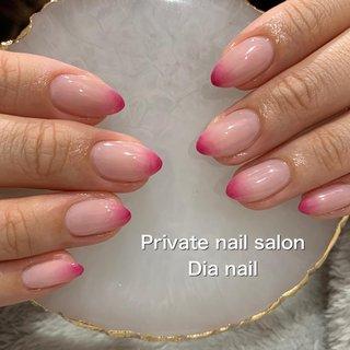 #グラデーション #ねずこネイル #春 #バレンタイン #グラデーション #Private nail salon Dia nail #ネイルブック