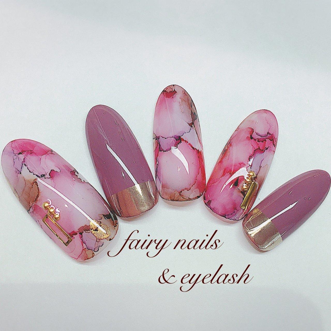 #リキッドマーブル #2020春 #ピンク #ミラーネイル #春 #夏 #ハンド #タイダイ #大理石 #ニュアンス #ロング #ピンク #パープル #ボルドー #ジェル #ネイルチップ #fairy nails & eyelash フェアリーネイルズ&アイラッシュ #ネイルブック