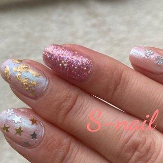 ポリッシュです #オールシーズン #ピンク #マニキュア #S-nail #ネイルブック