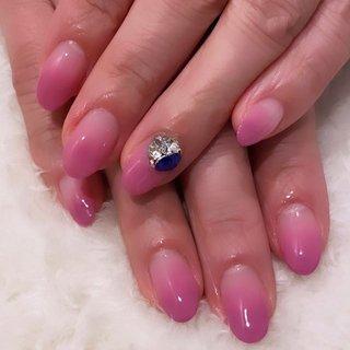 #春 #グラデーション #ピンク #ジェル #r. #ネイルブック