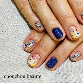 和柄ネイル💅✨ 白×ブルーこの季節にぴったりです❄️ #和柄 #和柄ネイル #和柄ミックス #青ネイル #白ネイル #長野市ネイルサロン #長野市ネイル #シュシュボーテ@chouchou.beaute.nail #chouchou_beaute #ネイルブック