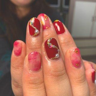 #レッドネイル #JUJU.nail #ネイルブック