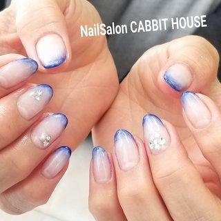 #ハンド #フレンチ #ジェル #mika ♡ NailSalon CABBIT HOUSE #ネイルブック