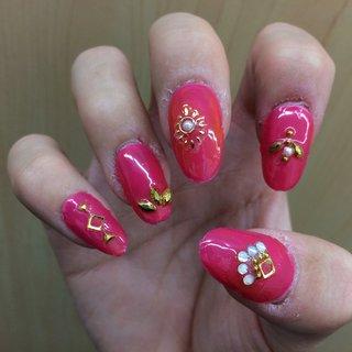 #春 #ハンド #シンプル #ロング #ピンク #マニキュア #pinkeynail#cute #ネイルブック