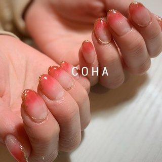 忙しい主婦も 女の子♡だった事を思い出すような プルっるーんレッド🥰 #オールシーズン #バレンタイン #ハンド #グラデーション #COHA nail and art #ネイルブック
