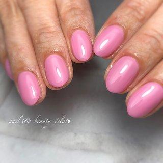 #ワンカラーネイル#ピンクネイル#シンプルネイル #nail & beauty éclat❥ #ネイルブック