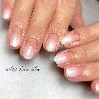 #シンプルネイル#グラデーションネイル #ベイビーブーマー #nail & beauty éclat❥ #ネイルブック
