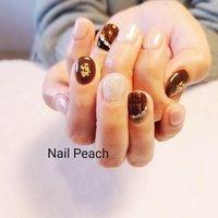 #バレンタインネイル #チョコネイル #Nail Peach #ネイルブック