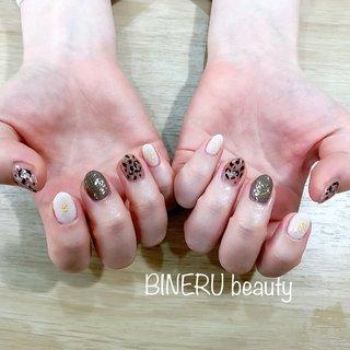 バレンタインネイル❤️ #バレンタインネイル #レオパードネイル #ブラウンネイル #BINERU beauty #BINERU beauty #ネイルブック