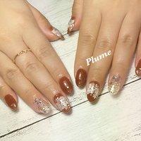 #ブラウンネイル#チョコレートネイル #フラワーネイル #プライベートサロン #nail salon Plume #ネイルブック
