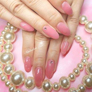 #シアーカラーネイル #ピンク#シンプル #Luce 〜ルーチェ〜 #ネイルブック