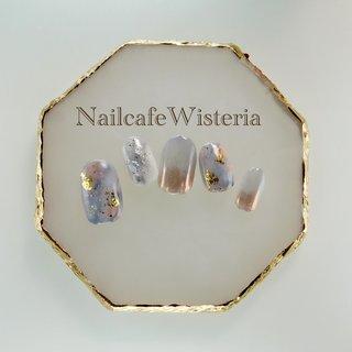 nailcafewisteria  #ミラー #グレー #ニュアンス #オールシーズン #ハンド #ピンク #グレー #nailcafewisteria #ネイルブック