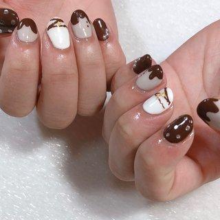 #バレンタインネイル#チョコレートカラー #373 #ネイルブック
