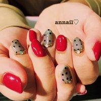 ありがとうございました♡ ドットが可愛い♡  #annail__ #nail #nailart #nails  #summer #footnail #nailstagram  #cute #fashion #fashonista  #ネイル #春ネイル #ネイルサロン #ネイルケア  #ネイルデザイン #ネイルやり放題 #シースルーネイル #バレンタイン #パーティー #デート #女子会 #ハンド #ワンカラー #ビジュー #ドット #ミディアム #レッド #ブラック #ジェル #お客様 #annail #ネイルブック