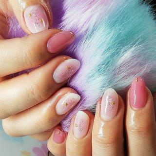 持ち込みデザイン 淡いピンクでチークネイル(๑˃ᴗ˂)و♡ 暦は立春ですね! #オールシーズン #ハンド #シンプル #ラメ #チーク #ショート #ホワイト #ピンク #パステル #ジェル #S3795 #ネイルブック