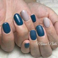 ☆New Nail☆  ブルーグリーンにしたい‼️との オーダー😄 片手はマット仕上げで💅  当店ではお客様のお好みや 肌色に合わせて カラーをお作りします💕  ネイルの持ちが悪い… 爪が折れやすい😭など 爪のお悩み、トラブルは お気軽に ご相談ください🙇 ご予約お問い合わせは↓↓ ✉private_salon.musa@docomo.ne.jp  #nail #nails #nailart #art #genic_nail #fashion #style #design #love #girls #cute #beauty #ネイル #ネイルアート #ネイルデザイン #ジェルネイル #大人ネイル #ニュアンスネイル #ベージュネイル #シェルネイル #グラデーション #ファッション #ワンカラーネイル #冬ネイル #マットネイル #ベージュ #つくば市ネイルサロン #つくばネイル#네일 #钉子 #オールシーズン #ライブ #オフィス #デート #ハンド #シンプル #ワンカラー #マット #ショート #ベージュ #グリーン #ブルー #ジェル #お客様 #MOUSA #ネイルブック