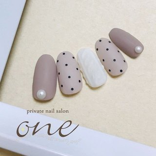 #privatenailsalonone#上田市ネイルサロンone#ドット柄ネイル#ニットネイル #private nail salon one #ネイルブック